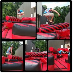 Code Red Battle Zone Inflatable Ride...Perfect for teenagers who love the game Wipe Out. Available for rental in Atlanta. We also service Alabama, Florida, Tennessee, South Carolina & Parts of North Carolina too.