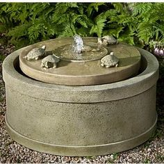 "The Turtle Pond Fountain. 16"" high, 28"" around $829"