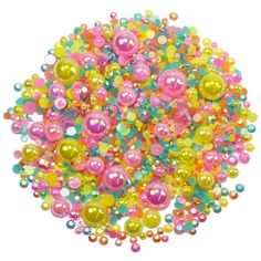 This embellishment pack contains a luscious mixture of rhinestones and pearls in tones of yellow hot pink and teal The sparkly gems range in size Nail Decorations, Ipad Case, Sprinkles, Embellishments, Hot Pink, Card Making, Teal, Packing