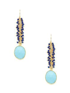 Mary Louise Designs Blue Lapis & Turquoise Drop Earrings