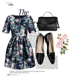 """""""Floral Elegance"""" by curature ❤ liked on Polyvore featuring Anja, Relaxfeel, women's clothing, women, female, woman, misses and juniors"""