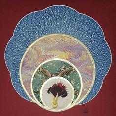 By Evren Kakan ============================= . Ebru Art, Turkish Art, Marble Art, Flower Market, Fabric Art, Old Things, Blog, Miniatures, Etsy