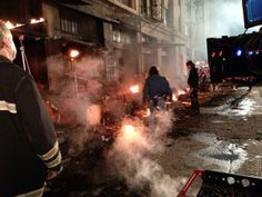 AndrewBikichky: Flames needed to extinguished occasionally to let the set cool down a bit before re-lighting Ep611 #Castle