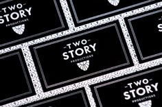 e711e0e6ae29 Two Story Productions Branding created by arithmetic creative  branding   design  lettpress  blackandwhite