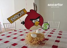 AZUCAR FLOR party studio: centros de mesa Toddler Birthday Themes, 2nd Birthday Boys, Bird Birthday Parties, Happy Birthday, Cumpleaños Angry Birds, Festa Angry Birds, Pool Party Kids, Party Organization, Bird Theme
