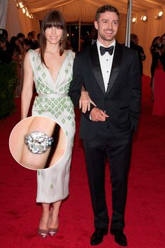 Jessica Biel & Justin Timberlake - Celebrity Engagement Rings - Marie Claire