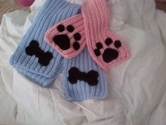 Special Order. Very warm Dog scarf with two by MagicalStrings, $35.00