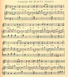 Partitura  Mozart  La Flauta Mágica.