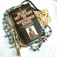 """Bury My Heart at Wounded Knee"" by Dee Brown #vintage #jewelry #fallfashion #teamlove #giftsforher #necklaces #WoundedKnee #NativeAmerican #Indian #turquoise #mother-of-pearl #history #photochallenge Day 13 - #FavoriteBook  MyVintageJewels shared a new photo on Etsy"