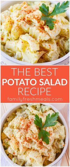 The Best Potato Salad Recipe - absolutely classic potato salad, with a mayo-mustard dressing, hard-boiled egg, and enough fresh veggies to give it a good crunch.
