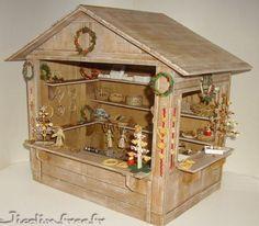Chalet de Noel miniature detail
