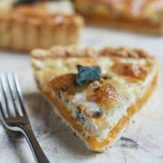 Pumpkin & Gorgonzola Quiche