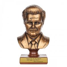I need this in my life - Parks and Recreation Ron Swanson Bust
