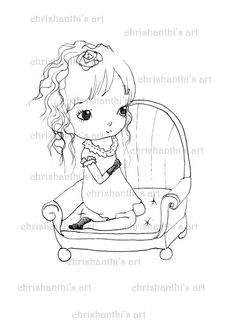 Chrishanthi digi stamps****Ppinkydolls This is for the black and white line art digi stamp jpg only. Print this on a good heavy paper and