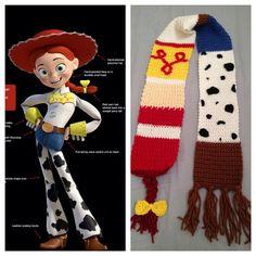 Toy Story's Jessie inspired Scarf on Etsy, $40.00