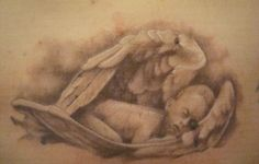 Family Tattoo Designs For Women Sleeping Cherub Angel Tattoo