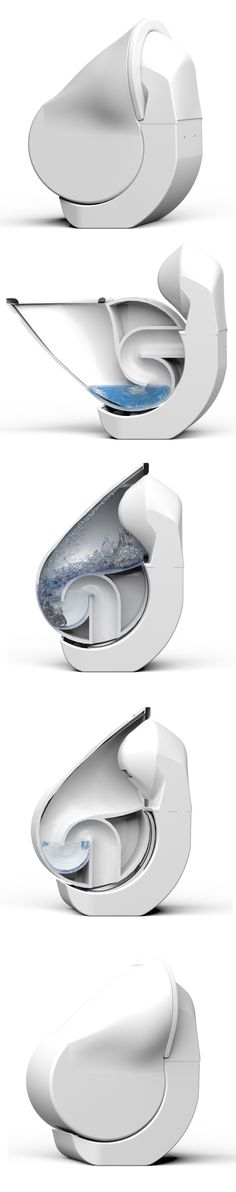 iota folding toilet by gareth humphreys and elliott whiteley at the university of huddersfield, reduces its size and water consumption