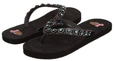 My favourites! So pretty in person. Justin Flip Flops Stace Black/Blue