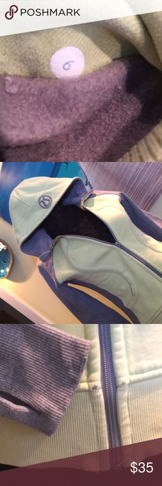 Super Thick Lululemon scuba hoodie rubbed sides Used condition Size six lululemon scuba with rubbed sides. Thumb holes. There is slight color fade. Slight wear in locations one would expect. Small stain on hood none of my magic can remove. Zipper a little weird as the top stop on one side appears gone so that if you take zipper to absolute top it gets a bit stuck. I never pull mine that high up. Thick and super warm. Priced with flaws in mind and will sell fast. (LYL 102017) lululemon…