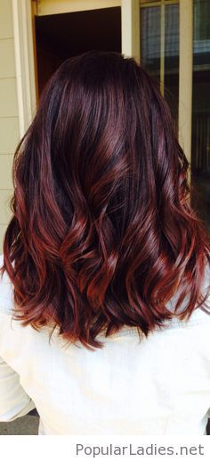 Sweet cherry cola hair color