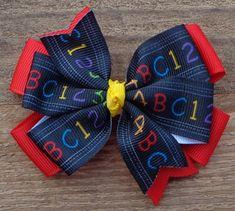 Large Royal Blue Flower Ponio Hairband Hair Elastics School Bobbles