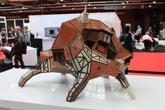 3D printed deformed house at the 3D Printshow 2015 in Berlin