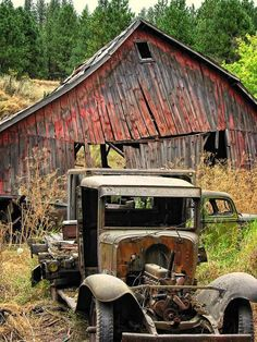 There was a day, when the barn was red and the vehicles were shiny black....Yes...that was a long time ago.Today the patina of time has colored them all and the memories fade.