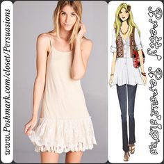 NWT Cream Lace Ruffle Hem Dress Extender Tunic Description coming soon. Item now available Pretty Persuasions Dresses