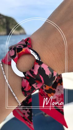 Bangle, Bracelet, Unique Gifts For Her, Summer Accessories, Stainless Steel Rings, Silk Scarves, Black Fabric, Womens Scarves, Philosophy