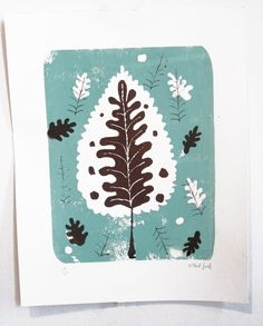 Blue Leaf Print by Gilbert Ford on Little Paper Planes