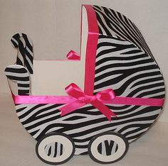 Baby Shower Carriage Centerpieces | ... Baby Carriage Table Centerpiece  Gift Box Make A