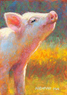 Rita Kirkman's Daily Paintings: Little Piggy Pink