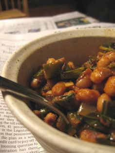 Smoky Vegetarian Black Eyed Peas & Collards - Can make this in the ...