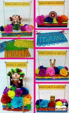 fiesta mexicana, centros de mesa