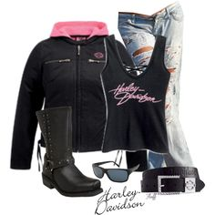 harley pink by Polyvore
