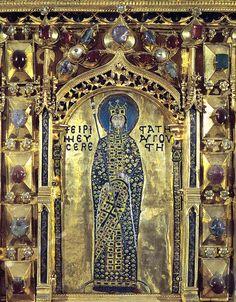 | Venice, Pala d'Oro, detail Byzantine empress Irene of Athens (752-803) | Flickr -