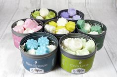 Scented Soy Wax Melts x3 Tin Gift Set your by WildfireCandleCo £12.99