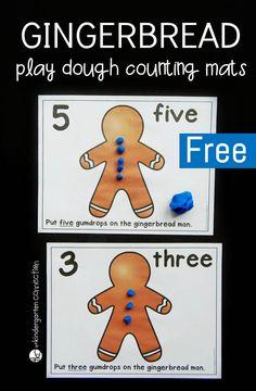 Counting Gumdrops Play Dough Mats