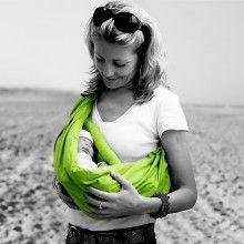Lime Green Minimonkey baby sling