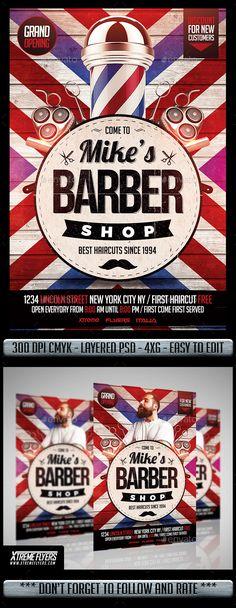 3 Barber Shop Flyer Templates Barber Shop Flyer Template And Template