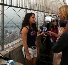 Aly Raisman - Interview in New York