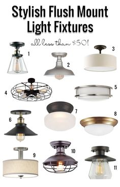Ideas Kitchen Lighting Fixtures Over Sink Home Depot For 2019 Flush Mount Kitchen Lighting, Farmhouse Kitchen Lighting, Kitchen Ceiling Lights, Flush Ceiling Lights, Kitchen Lighting Fixtures, Ceiling Fixtures, Lighting For Low Ceilings, Small Kitchen Lighting, Farmhouse Windows