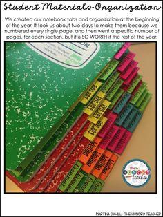 Classroom Organization in the Upper Grades {Part 2 of 5} 6th Grade Ela, Third Grade, New Classroom, Classroom Ideas, Classroom Organization, Classroom Management, Class Activities, Interactive Notebooks, Middle School