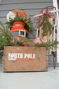 Santa Claus Front Porch Decor