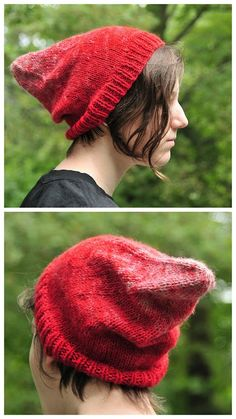 """DIY Knitted Gnome Hat Pattern from The Work is Getting to Me here. She writes: """"The Ironic Gnome hat is for hipster gnomes or people w. Hipster Hat, Gnome Hat, Gnomes, Knitted Hats, Knitting, Diys, Pattern, People, Templates"""