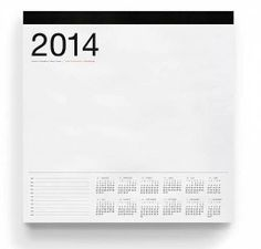 """Oversized writing pad for big jobs.  - 12"""" x 12"""" pad with a year at a glimpse on each page - 150 sheets, gummed and padded"""