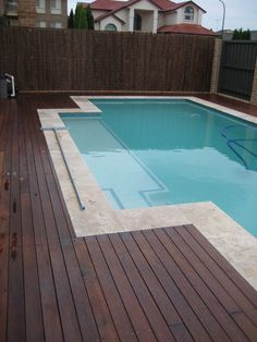 pool and decking Travertine