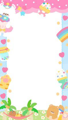 Cute Pastel Wallpaper, Cute Patterns Wallpaper, Cute Wallpaper Backgrounds, Aesthetic Iphone Wallpaper, Cute Wallpapers, Printable Scrapbook Paper, Printable Stickers, Cute Stickers, Photo Collage Template