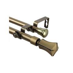 Rod Desyne Fort Adjustable Double Curtain Rod, Gold