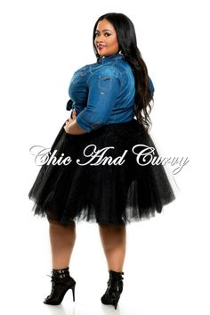 Plus size Tutu skirt. Available in Black, Red or Pink. Fun. $52.@ Chic and Curvy dot com